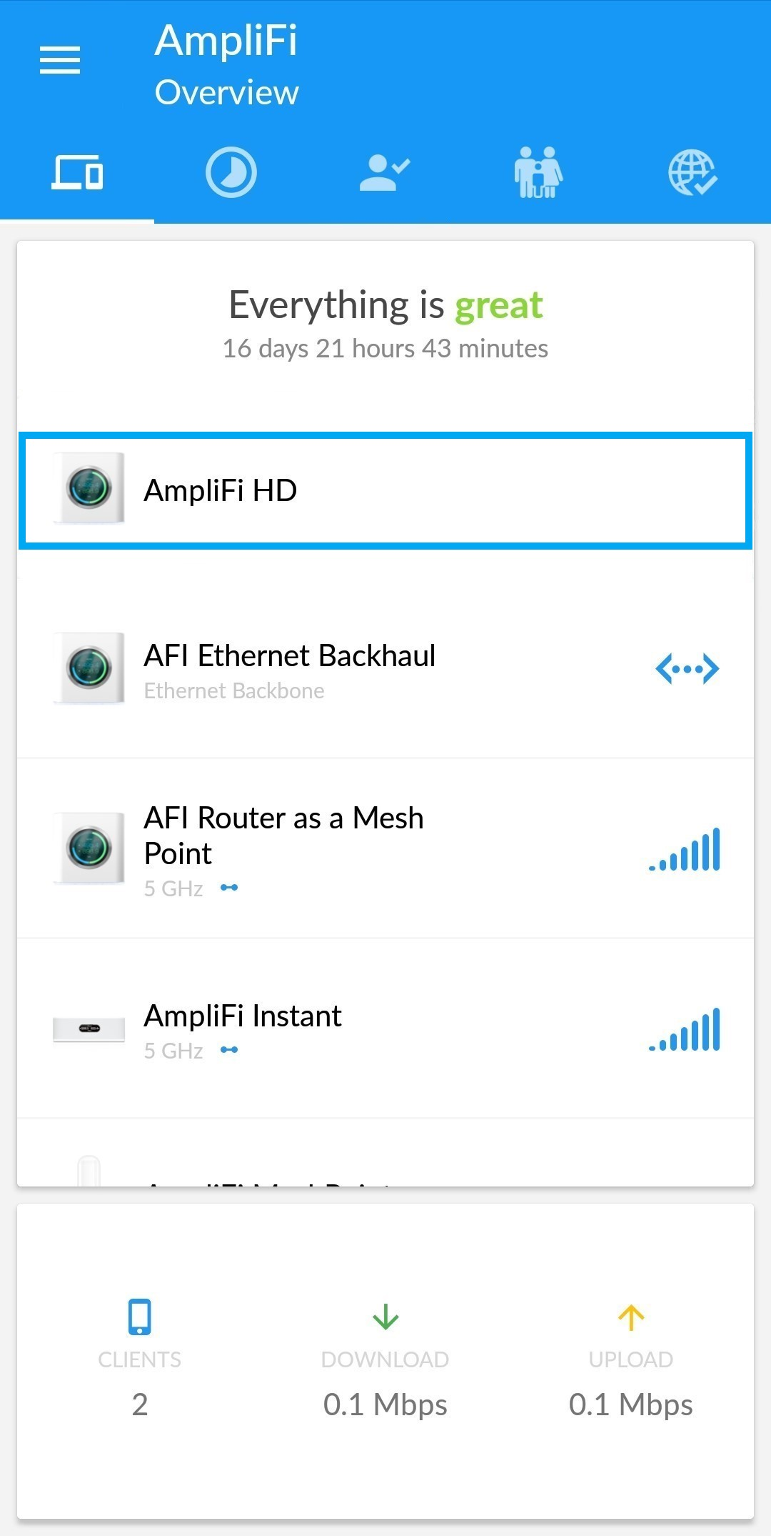 Updating or rolling back the AmpliFi Firmware – AmpliFi