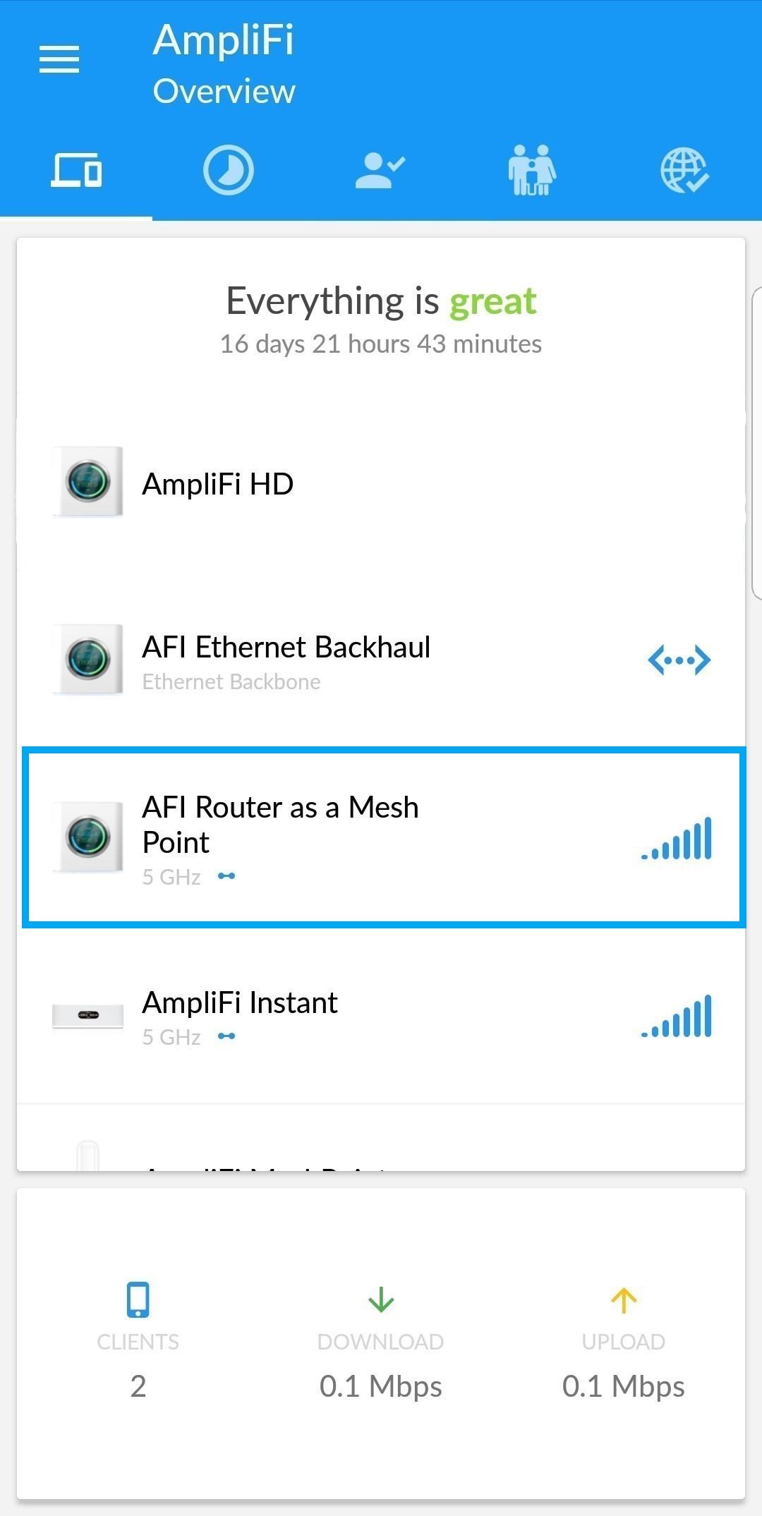 Troubleshooting: Slow Throughput on a Mesh Point – AmpliFi